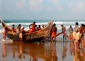 Фото рыбаков на пляже Самудра
